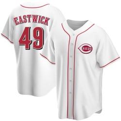 Rawly Eastwick Cincinnati Reds Youth Replica Home Jersey - White