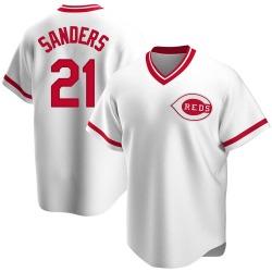 Reggie Sanders Cincinnati Reds Men's Replica Home Cooperstown Collection Jersey - White