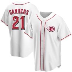 Reggie Sanders Cincinnati Reds Men's Replica Home Jersey - White