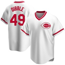 Rob Dibble Cincinnati Reds Men's Replica Home Cooperstown Collection Jersey - White