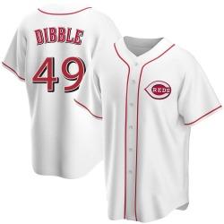 Rob Dibble Cincinnati Reds Men's Replica Home Jersey - White
