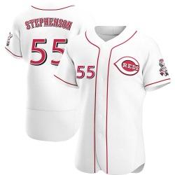 Robert Stephenson Cincinnati Reds Men's Authentic Home Jersey - White