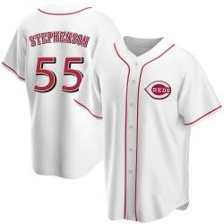 Robert Stephenson Cincinnati Reds Men's Replica Home Jersey - White