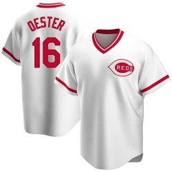 Ron Oester Cincinnati Reds Men's Replica Home Cooperstown Collection Jersey - White