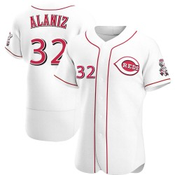 Ruben Alaniz Cincinnati Reds Men's Authentic Home Jersey - White