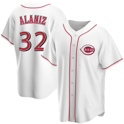Ruben Alaniz Cincinnati Reds Youth Replica Home Jersey - White