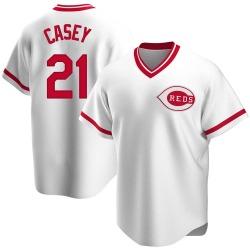Sean Casey Cincinnati Reds Men's Replica Home Cooperstown Collection Jersey - White