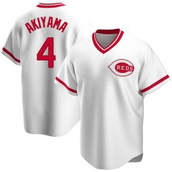 Shogo Akiyama Cincinnati Reds Men's Replica Home Cooperstown Collection Jersey - White