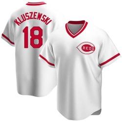 Ted Kluszewski Cincinnati Reds Men's Replica Home Cooperstown Collection Jersey - White