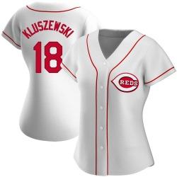 Ted Kluszewski Cincinnati Reds Women's Replica Home Jersey - White