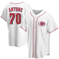 Tejay Antone Cincinnati Reds Men's Replica Home Jersey - White