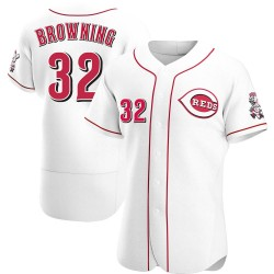 Tom Browning Cincinnati Reds Men's Authentic Home Jersey - White