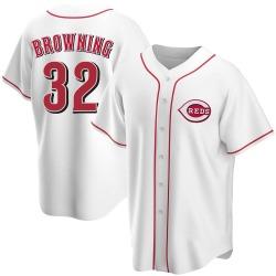 Tom Browning Cincinnati Reds Men's Replica Home Jersey - White