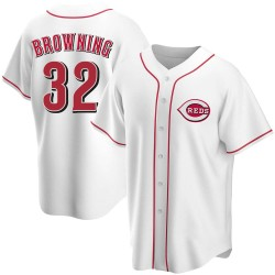 Tom Browning Cincinnati Reds Youth Replica Home Jersey - White