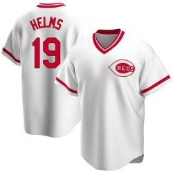 Tommy Helms Cincinnati Reds Men's Replica Home Cooperstown Collection Jersey - White