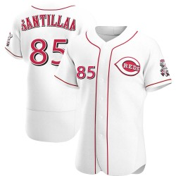 Tony Santillan Cincinnati Reds Men's Authentic Home Jersey - White