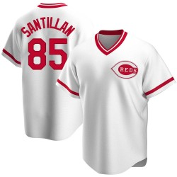 Tony Santillan Cincinnati Reds Men's Replica Home Cooperstown Collection Jersey - White