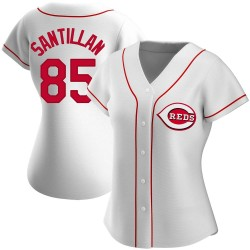 Tony Santillan Cincinnati Reds Women's Replica Home Jersey - White