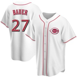 Trevor Bauer Cincinnati Reds Men's Replica Home Jersey - White