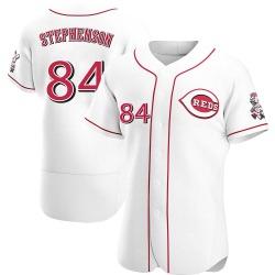 Tyler Stephenson Cincinnati Reds Men's Authentic Home Jersey - White