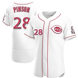 Vada Pinson Cincinnati Reds Men's Authentic Home Jersey - White