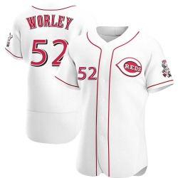 Vance Worley Cincinnati Reds Men's Authentic Home Jersey - White
