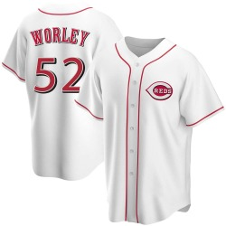 Vance Worley Cincinnati Reds Youth Replica Home Jersey - White