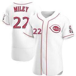 Wade Miley Cincinnati Reds Men's Authentic Home Jersey - White