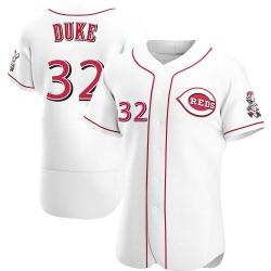 Zach Duke Cincinnati Reds Men's Authentic Home Jersey - White