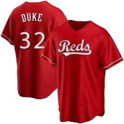 Zach Duke Cincinnati Reds Men's Replica Alternate Jersey - Red