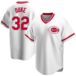 Zach Duke Cincinnati Reds Men's Replica Home Cooperstown Collection Jersey - White