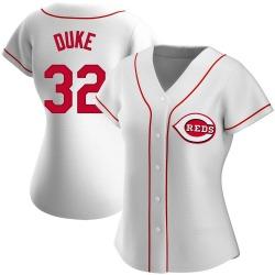 Zach Duke Cincinnati Reds Women's Authentic Home Jersey - White